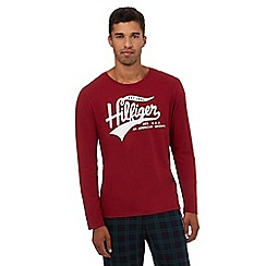 Tommy Hilfiger - Red long sleeve 'Hilfiger' shirt