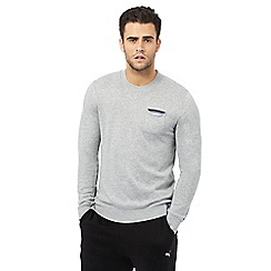 Tommy Hilfiger - Grey tipped pocket jumper
