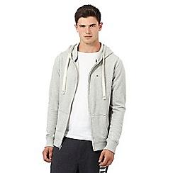 Tommy Hilfiger - Grey zip front branded hoodie