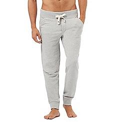 Tommy Hilfiger - Grey logo embroidered jogging bottoms