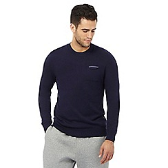 Tommy Hilfiger - Navy tipped pocket jumper