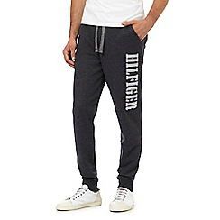 Tommy Hilfiger - Dark grey slogan print jogging bottoms