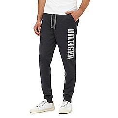 Tommy Hilfiger - Dark grey slogan print jogging bottoms