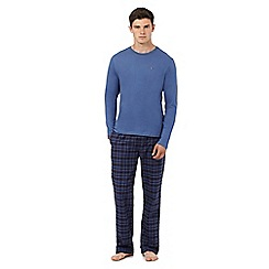 Tommy Hilfiger - Blue checked print top and bottoms pyjama set