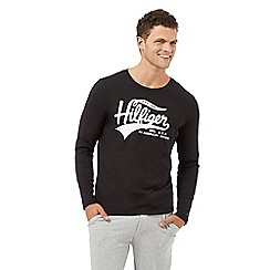 Tommy Hilfiger - Black logo print long sleeved pyjama t-shirt