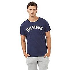 Tommy Hilfiger - Navy logo print crew neck pyjama t-shirt