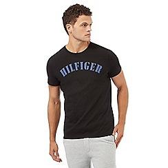 Tommy Hilfiger - Black logo print crew neck pyjama t-shirt