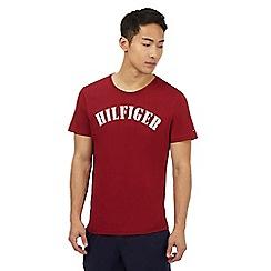 Tommy Hilfiger - Red 'Hilfiger' print t-shirt