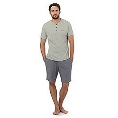Calvin Klein - Grey logo printed pyjama set