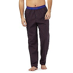 Calvin Klein - Purple striped lounge bottoms