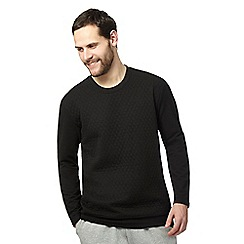 Calvin Klein - Black quilted jumper