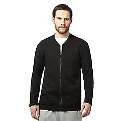 Calvin Klein - Black quilted zip through jacket