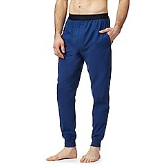 Calvin Klein - Blue logo print jogging bottoms