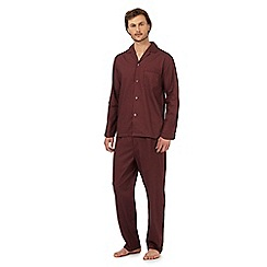 Maine New England - Big and tall dark red patterned print pyjama set