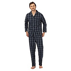 Maine New England - Big and tall navy checked pyjama set