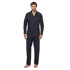 Hammond & Co. by Patrick Grant - Big and tall big and tall navy window checked print pyjama set