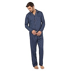 Hammond & Co. by Patrick Grant - Big and tall big and tall navy striped print pyjama set