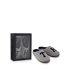 Tommy Hilfiger - Grey 'Tommy Hilfiger' slippers in gift box