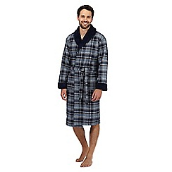 RJR.John Rocha - Big and tall navy tartan dressing gown