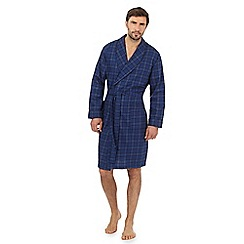 Hammond & Co. by Patrick Grant - Navy checked print dressing gown