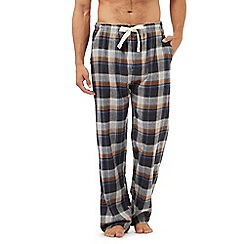 RJR.John Rocha - Grey checked print pyjama bottoms
