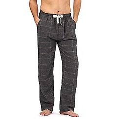 RJR.John Rocha - Big and tall grey herringbone checked bottoms