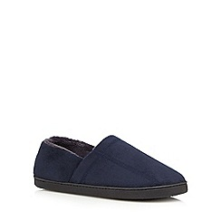 Maine New England - Navy memory foam slippers