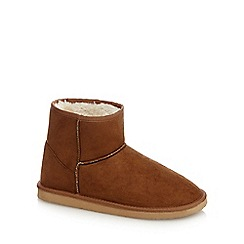 Mantaray - Tan fleece lined boots