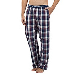 Red Herring - Dark red checked print pyjama bottoms