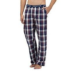 Red Herring - Dark red checked print pyjama bottoms