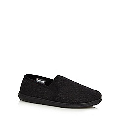 Maine New England - Grey wool blend carpet slippers in a gift box