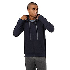 Red Herring - Navy marl textured hoodie