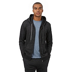 Red Herring - Dark grey marl textured hoodie
