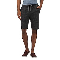 Red Herring - Dark grey marl textured shorts