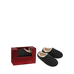RJR.John Rocha - Grey checked wool rich slippers in a gift box