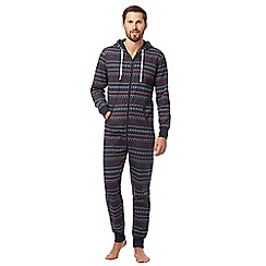 Mantaray - Navy Fair Isle pyjama onesie