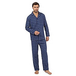 Maine New England - Big and tall big and tall navy checked cotton pyjama set