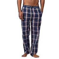 Gant - Navy check print pyjama pants