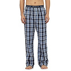 Gant - Blue checked pyjama bottoms