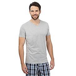 Gant - Grey logo print t-shirt