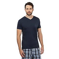 Gant - Navy logo print t-shirt