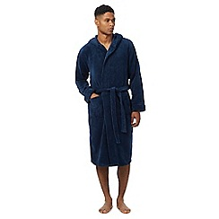 J by Jasper Conran - Dark blue hooded dressing gown
