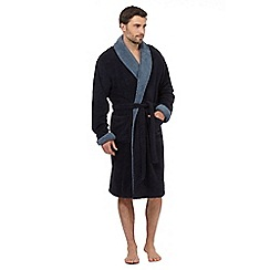 RJR.John Rocha - Big and tall navy shawl collar towelling dressing gown
