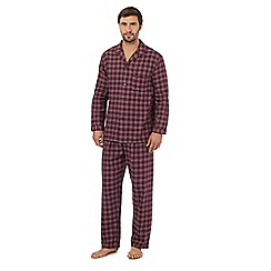 Maine New England - Dark red check cotton pyjama set