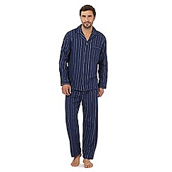 Maine New England - Big and tall big and tall navy stripped cotton pyjama set