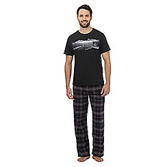 Mantaray - Grey lake print loungewear set