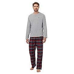 Mantaray - Navy tartan loungewear set