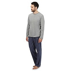 Maine New England - Big and tall grey striped loungewear set