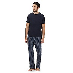 Maine New England - Big and tall navy striped loungewear set