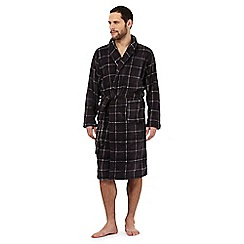 RJR.John Rocha - Grey checked fleece dressing gown